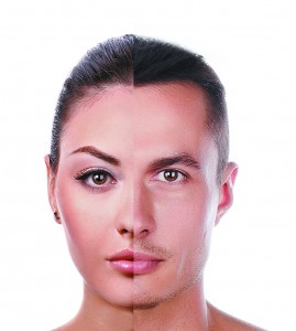 Figure 1. The aesthetic gender difference between the male and female face
